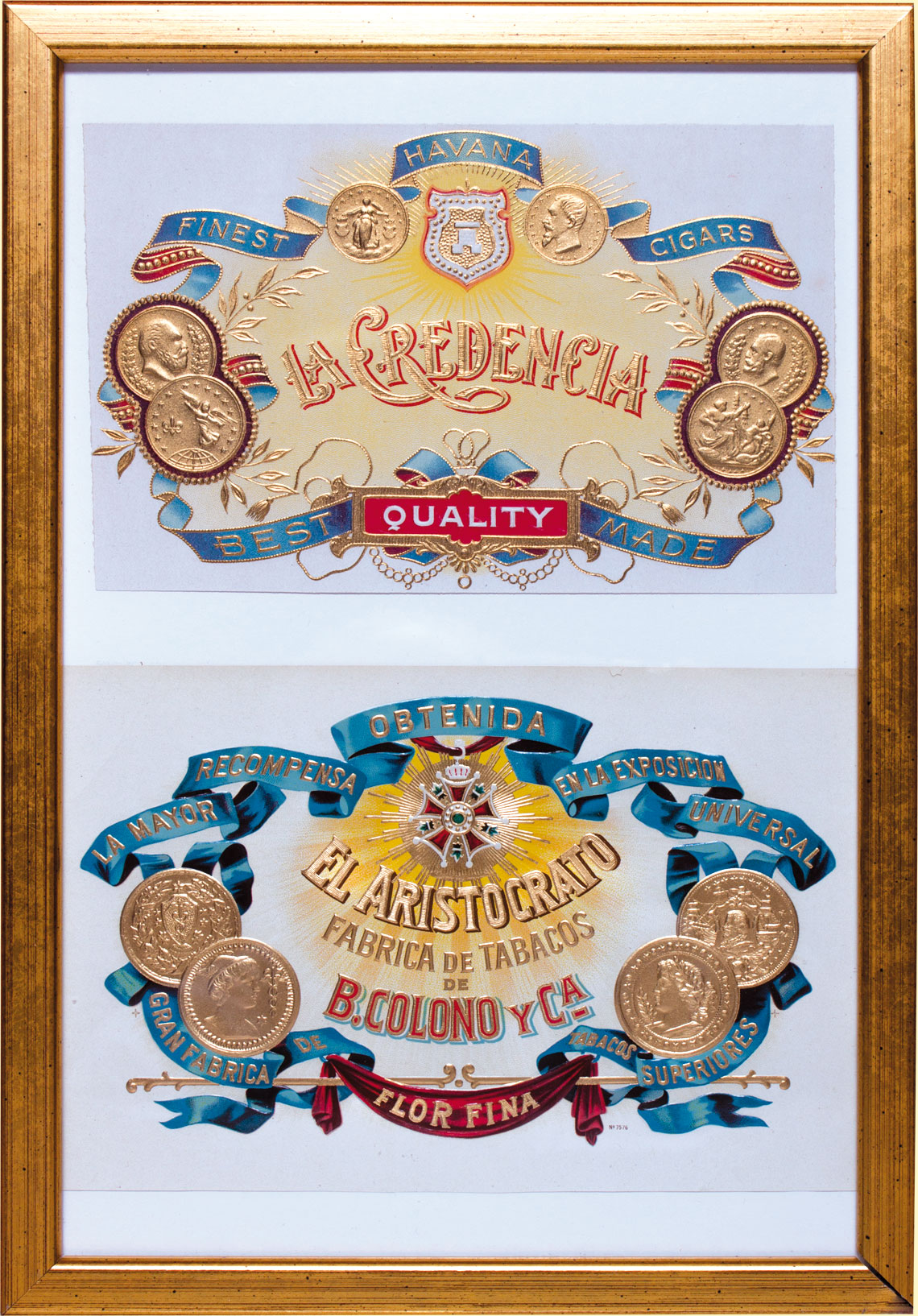 Old motifs from a historic cigar label